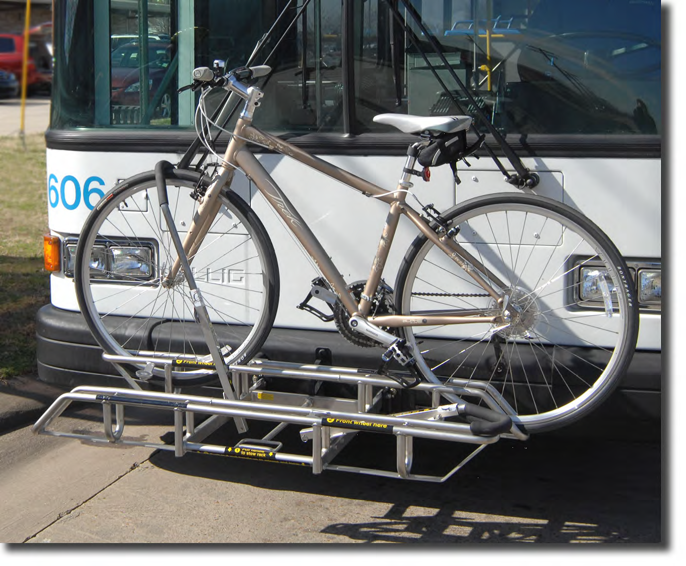 Bike Installed on front of bus